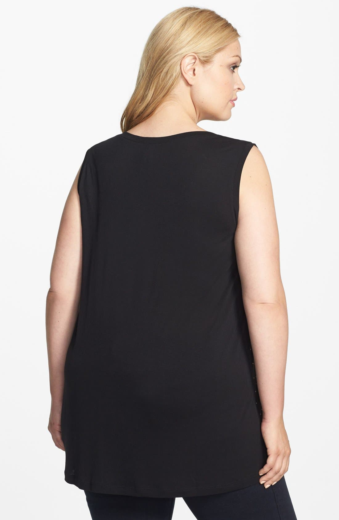 Alternate Image 2  - Kische Studded Tank (Plus Size)