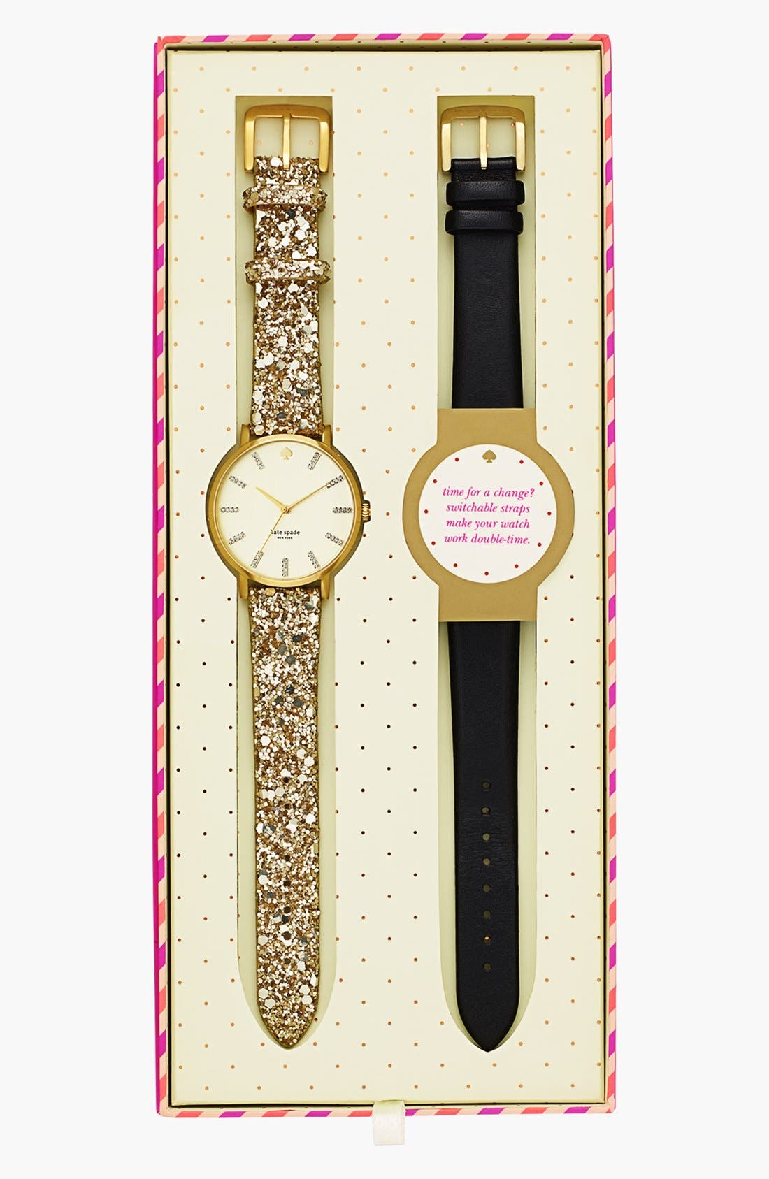 Alternate Image 2  - kate spade new york 'metro grand' boxed watch set