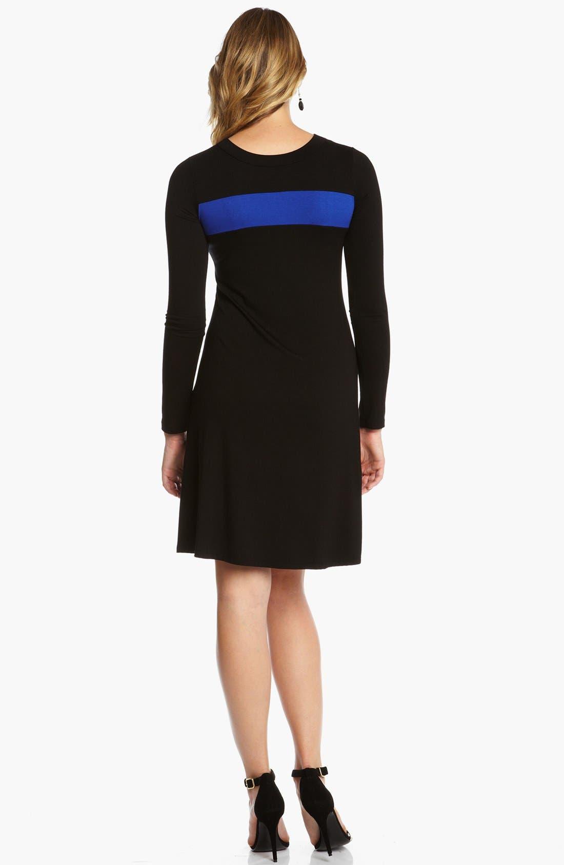 Alternate Image 2  - Karen Kane Stripe A-Line Dress