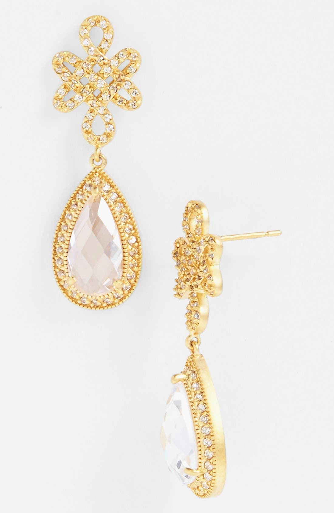 Alternate Image 1 Selected - FREIDA ROTHMAN 'Gramercy' Love Knot Teardrop Earrings