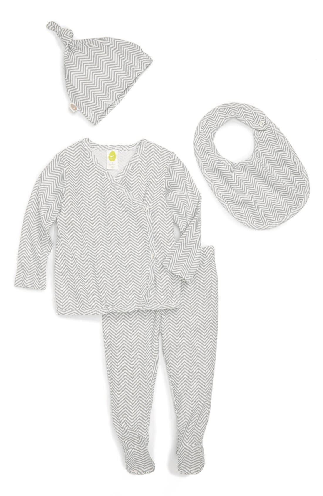 Alternate Image 1 Selected - Stem Baby Organic Cotton Shirt, Pants, Hat & Bib (Baby)