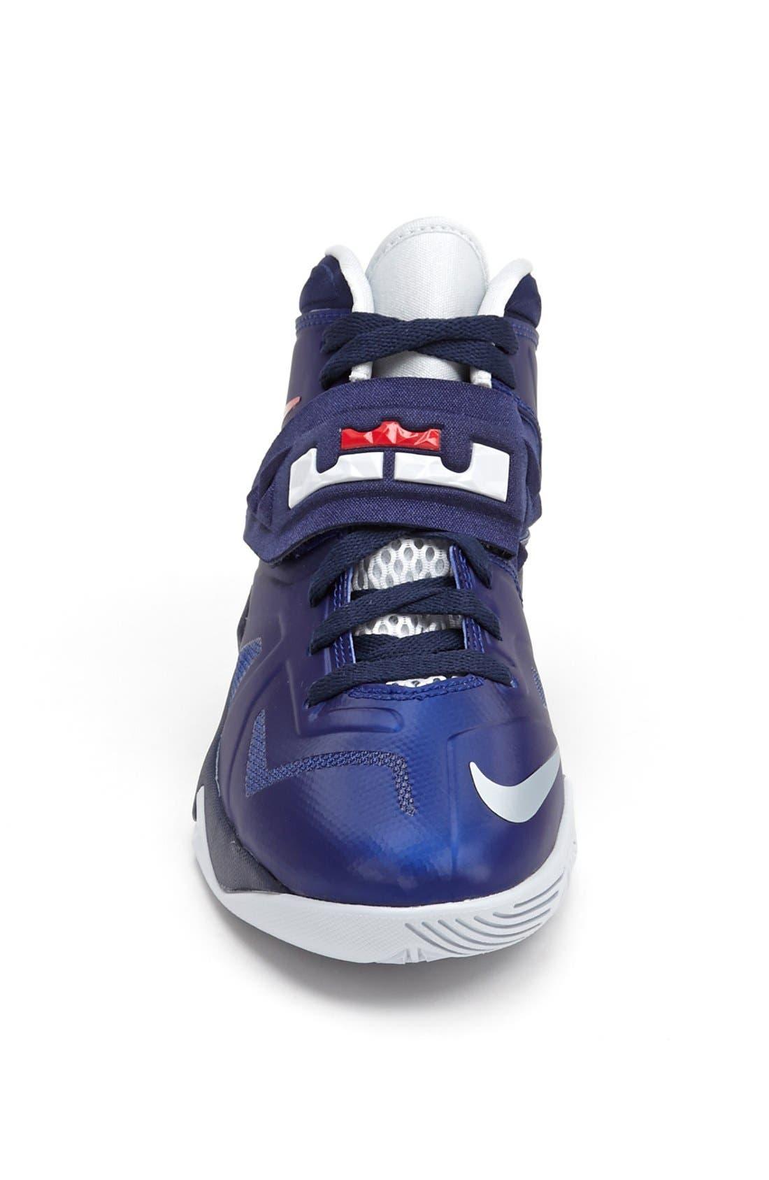 Alternate Image 3  - Nike 'LeBron Zoom Soldier VII' Basketball Shoe (Big Kid)