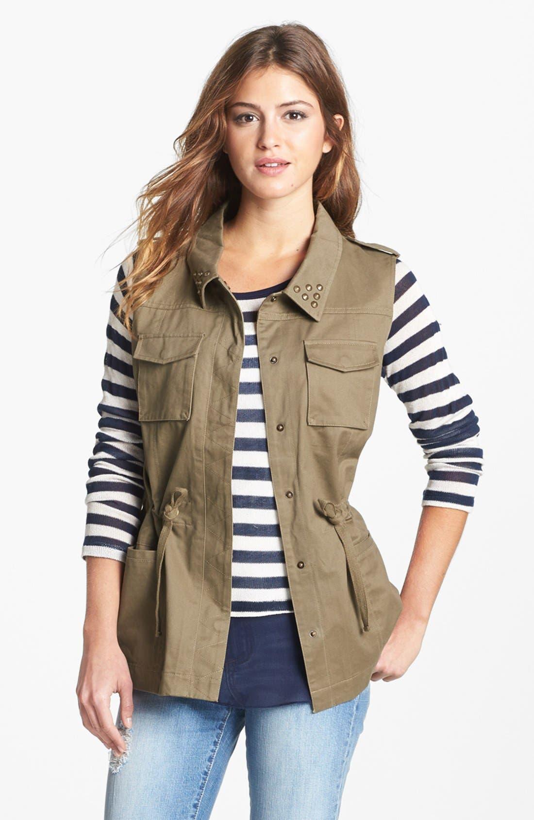 Alternate Image 3  - Olive & Oak Studded Utility Vest