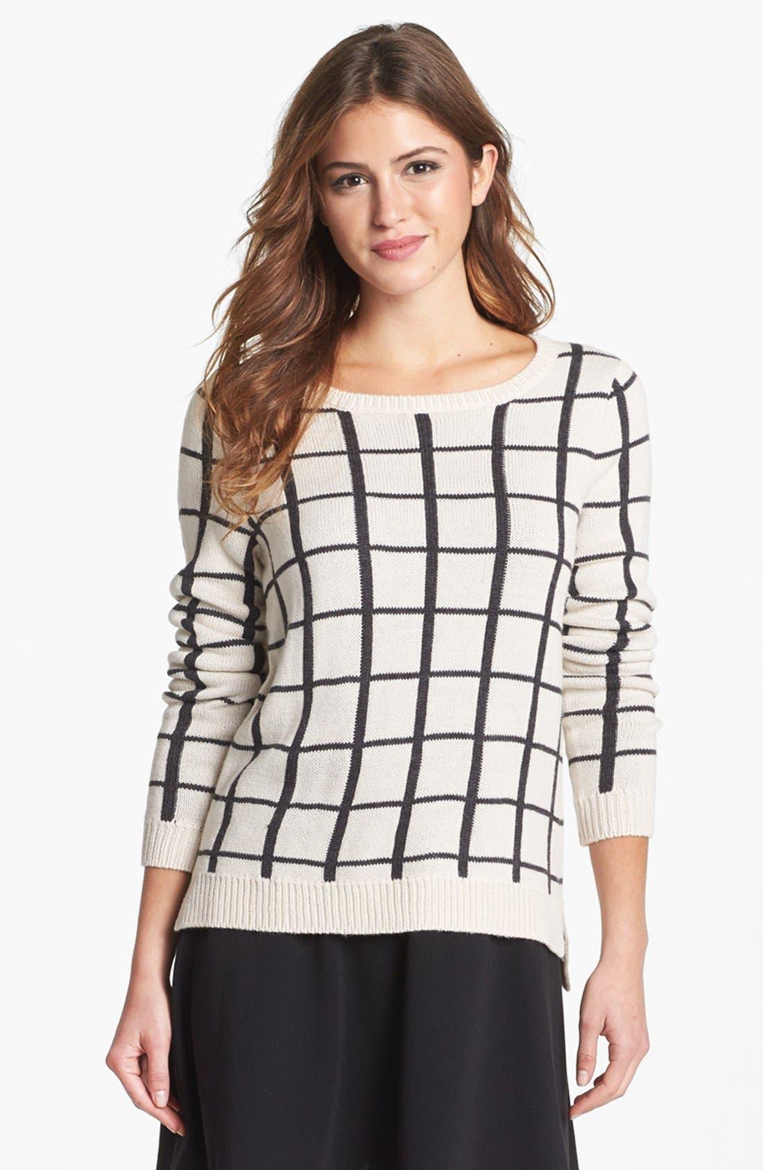 Alternate Image 3  - Olive & Oak Grid Pattern Sweater