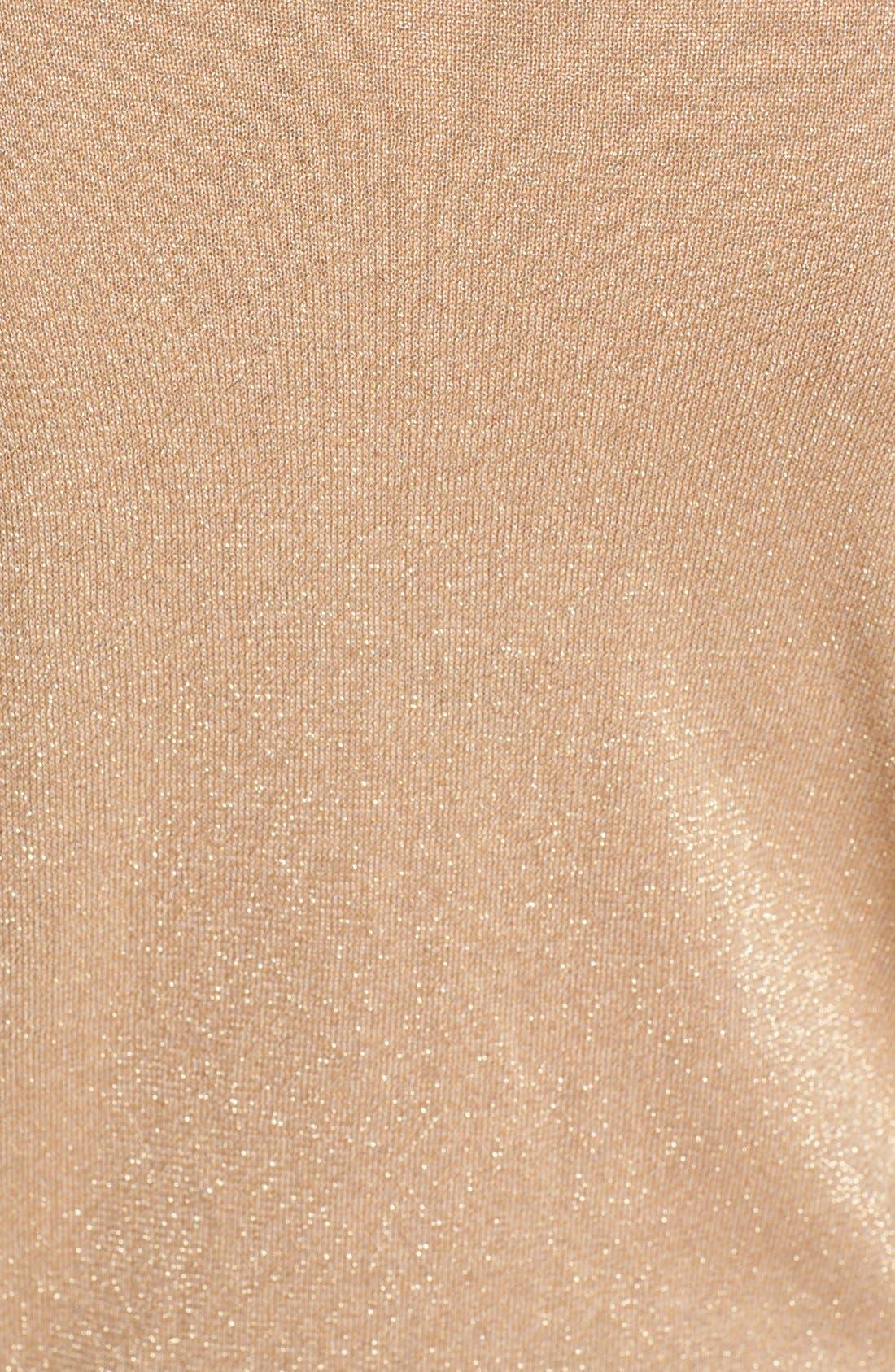 Alternate Image 3  - MICHAEL Michael Kors Studded Sleeve Metallic Sweater (Regular & Petite)