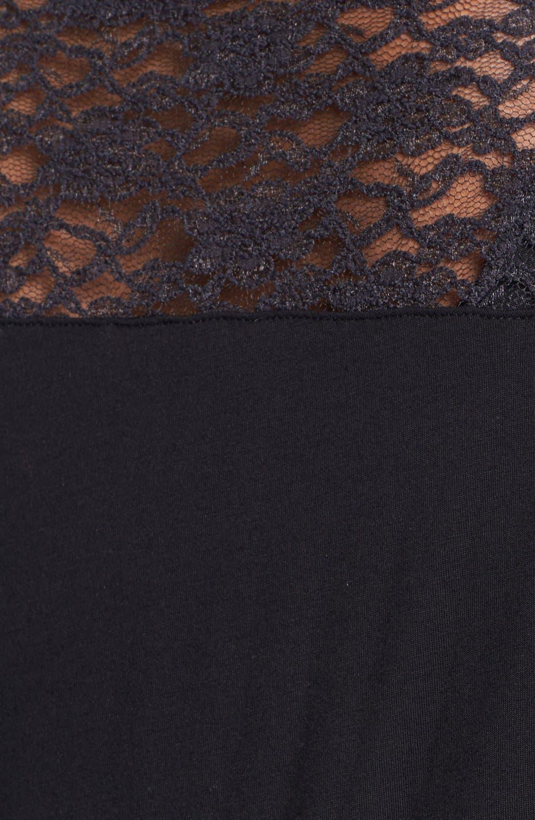 Alternate Image 3  - Kische Lace Shoulder Cardigan (Plus Size)