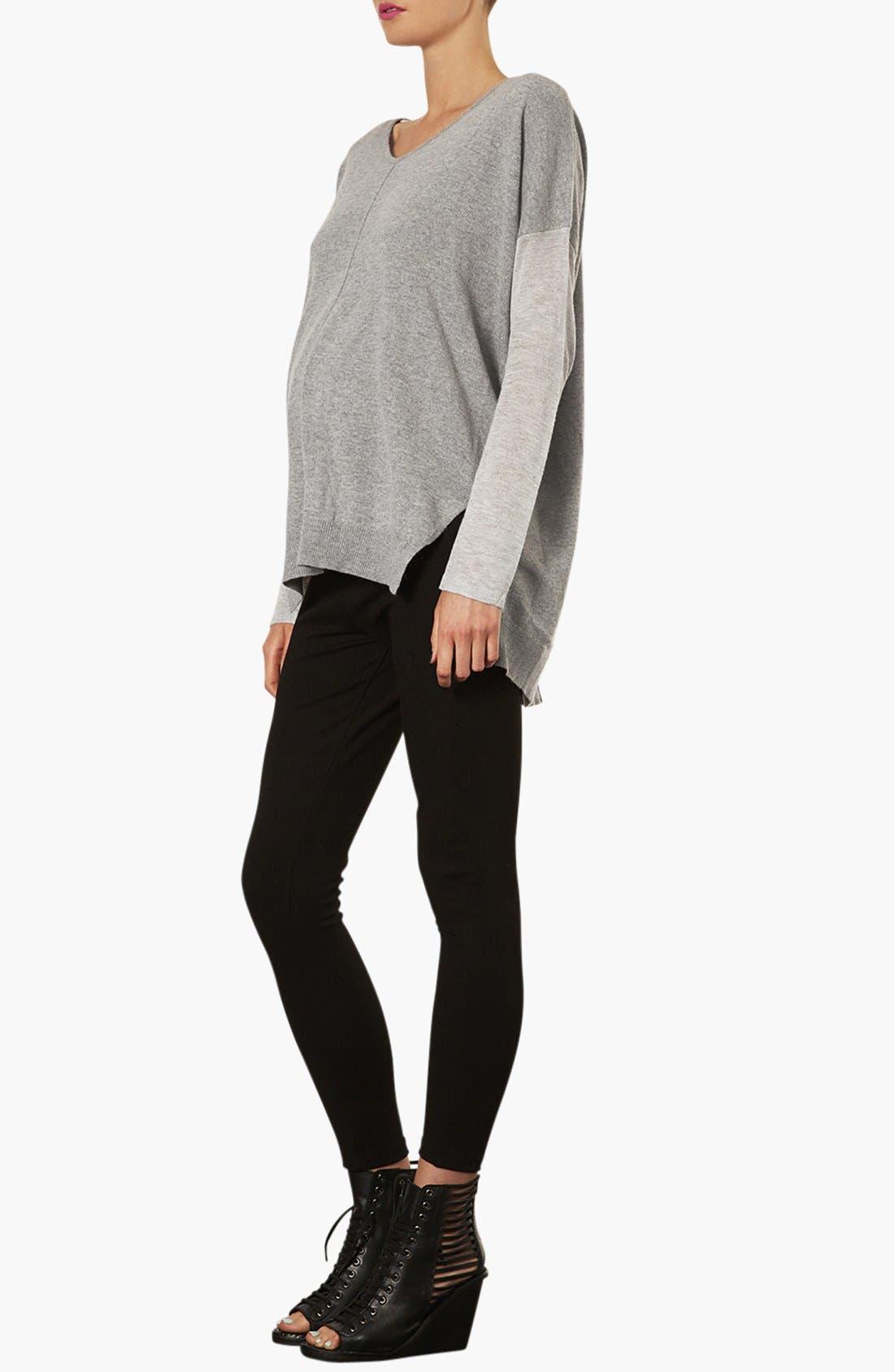 Alternate Image 4  - Topshop V-Neck Maternity Sweater