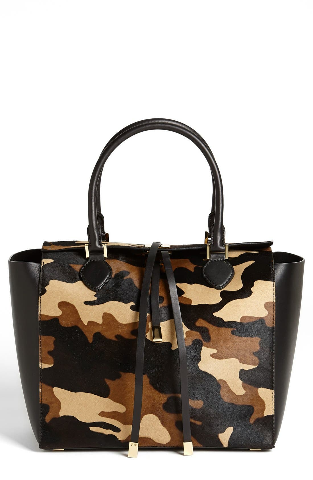 Main Image - Michael Kors 'Miranda' Calf Hair & Leather Tote