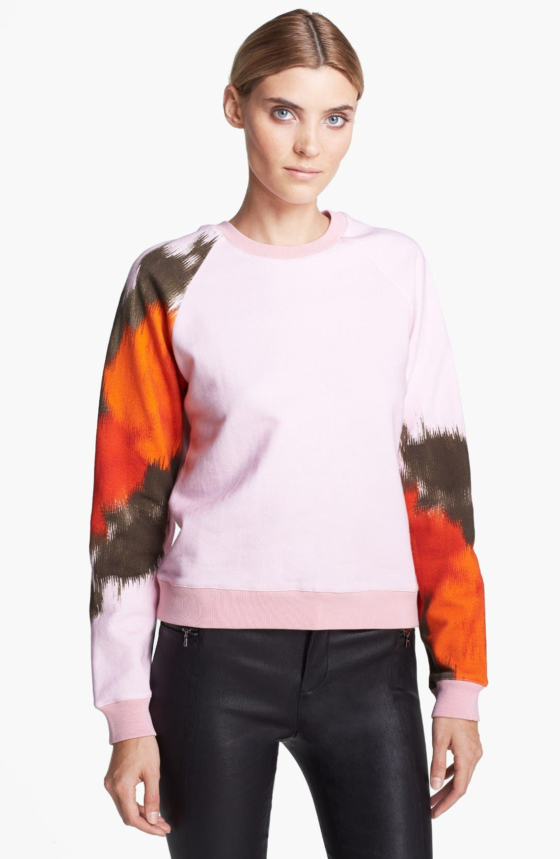 Alternate Image 1 Selected - MSGM Large Rose Print Sweatshirt