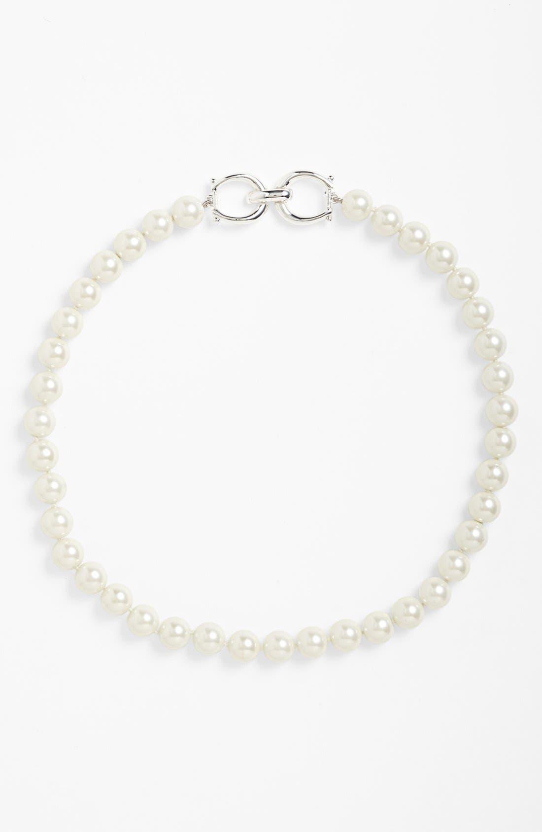 Alternate Image 2  - Lauren Ralph Lauren Glass Pearl Collar Necklace