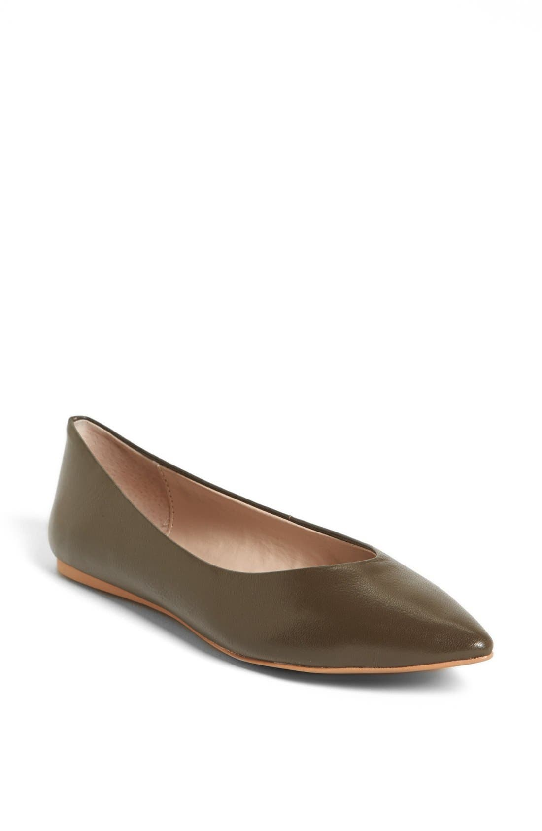 Alternate Image 1 Selected - Steven by Steve Madden 'Elatedd' Pointed Toe Flat
