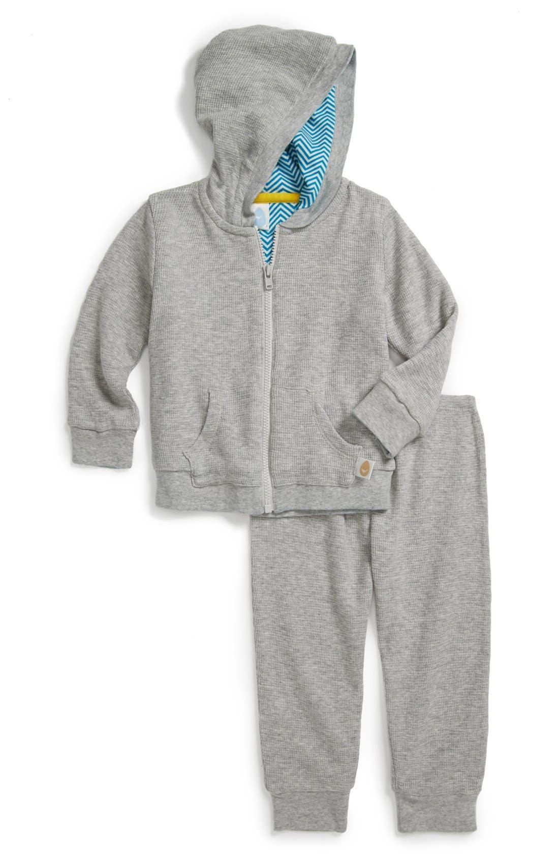 Main Image - Stem Baby Organic Cotton Hoodie & Pants (Baby Boys)
