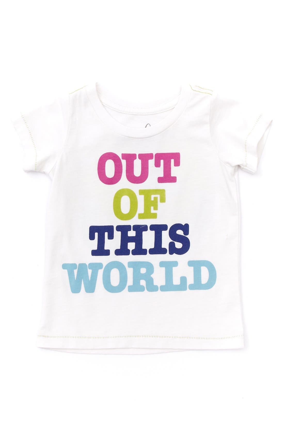 Alternate Image 1 Selected - Peek 'Out of This World' Tee (Baby Girls)