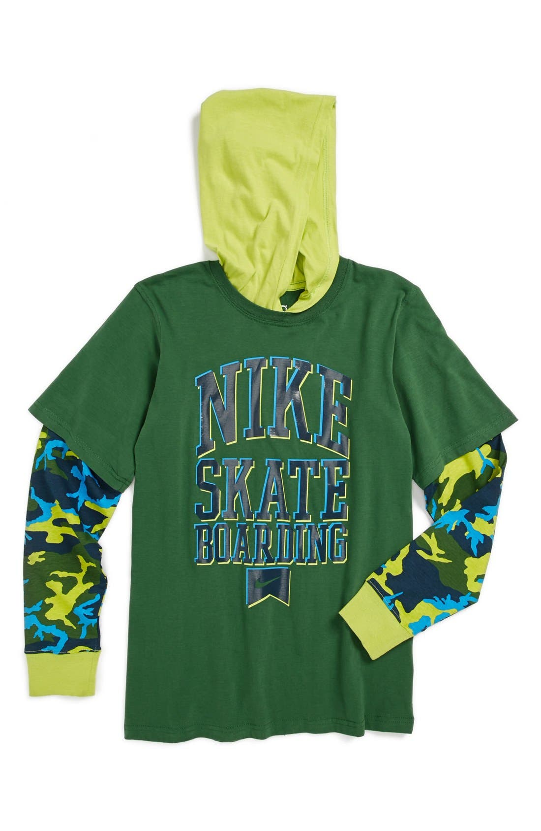 Alternate Image 1 Selected - Nike Hooded T-Shirt (Big Boys)