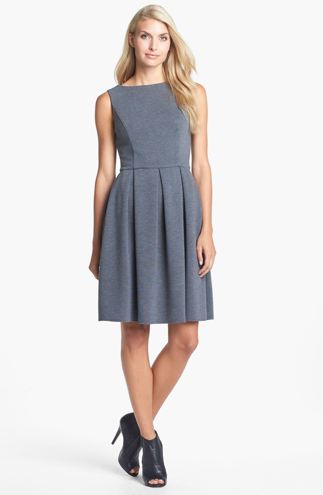 Alternate Image 1 Selected - Isaac Mizrahi New York Ponte Knit Fit & Flare Dress