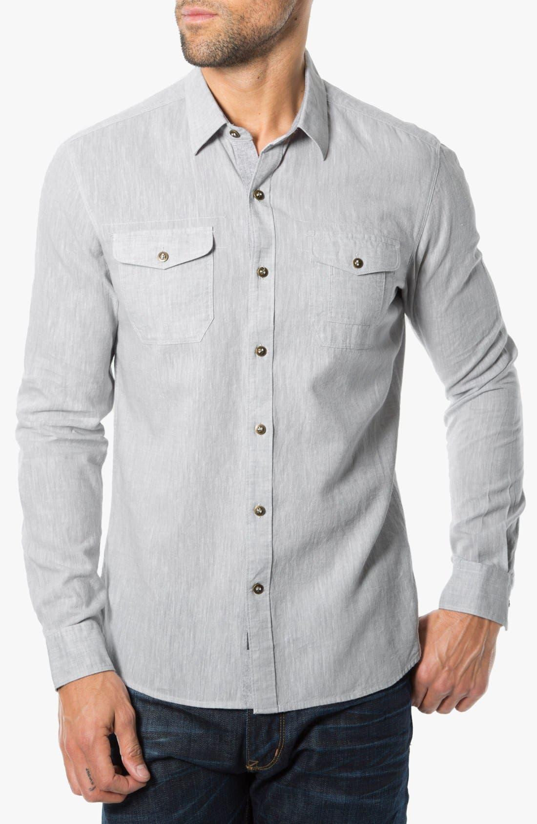 Alternate Image 1 Selected - 7 Diamonds 'After Lights' Trim Fit Cotton Sport Shirt