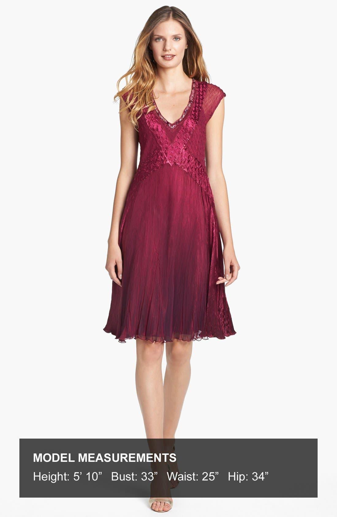 Alternate Image 4  - Komarov Embellished Satin & Chiffon Dress