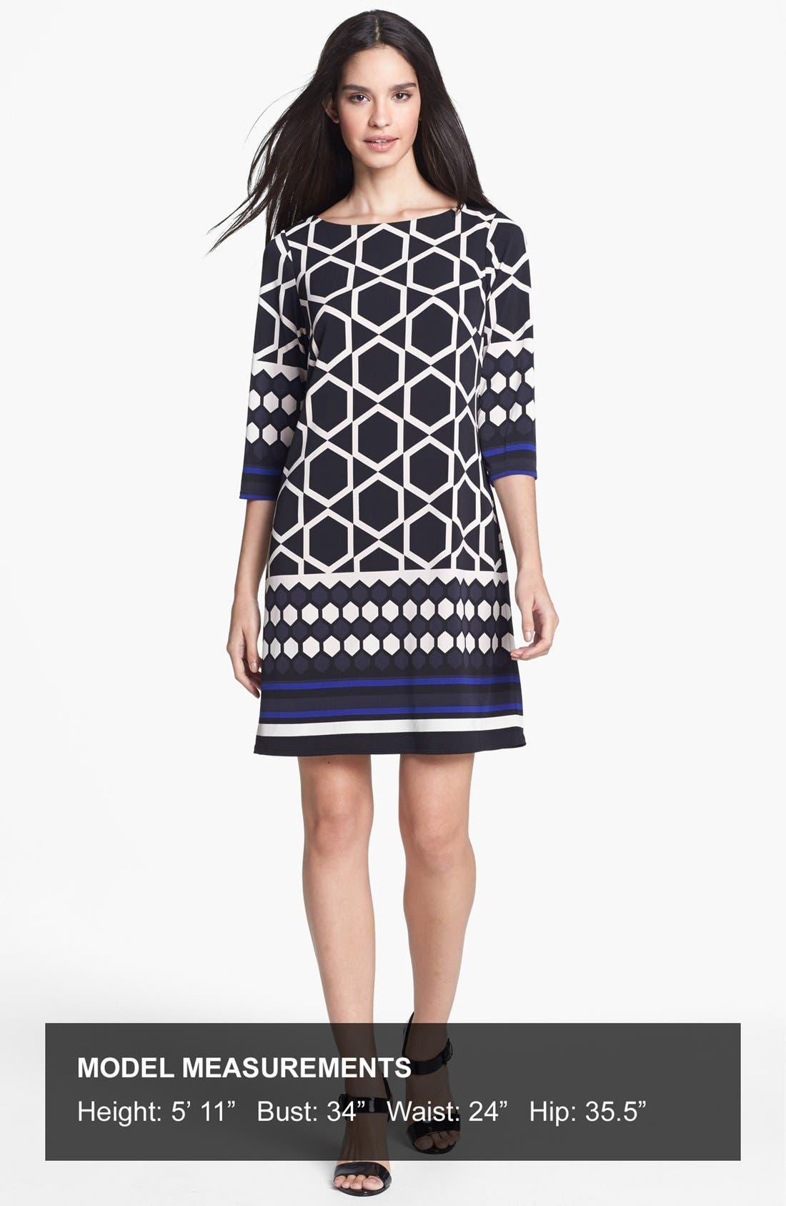 Alternate Image 4  - Eliza J Border Print Jersey Shift Dress