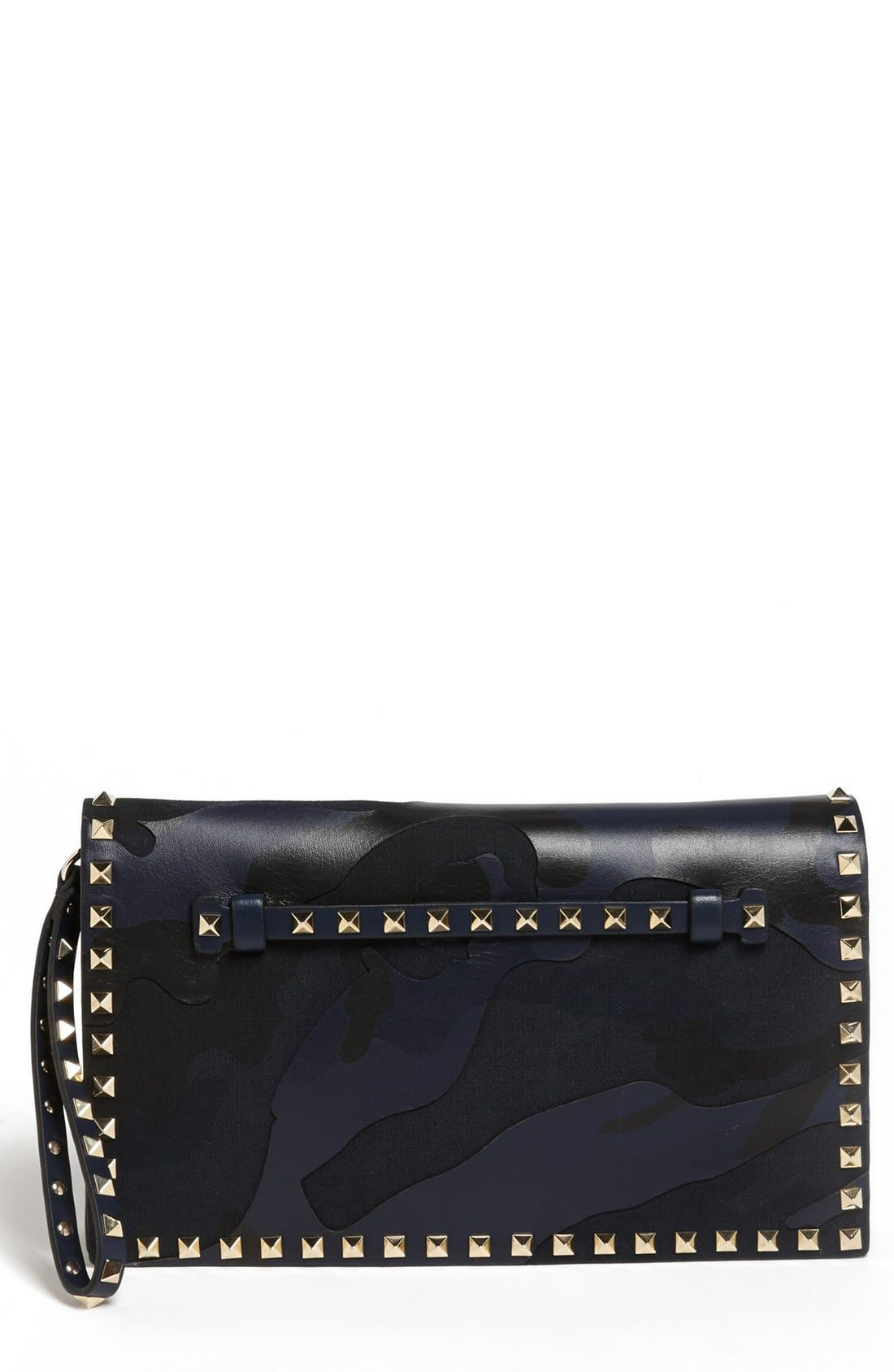 Alternate Image 1 Selected - Valentino 'Rockstud' Camo Flap Clutch