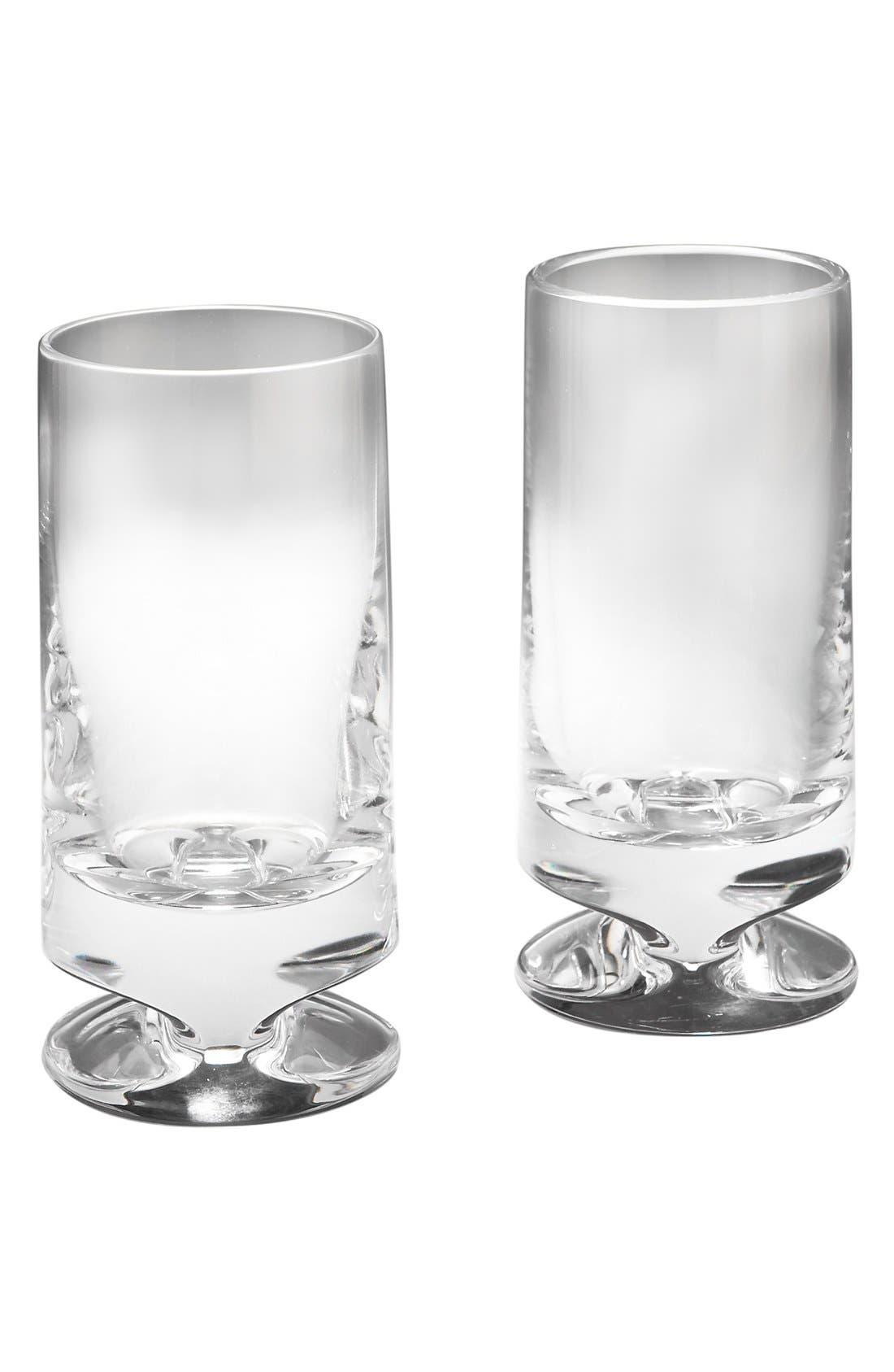Alternate Image 1 Selected - Nambé 'Groove' Full-Lead Crystal Highball Glasses (Set of 2)