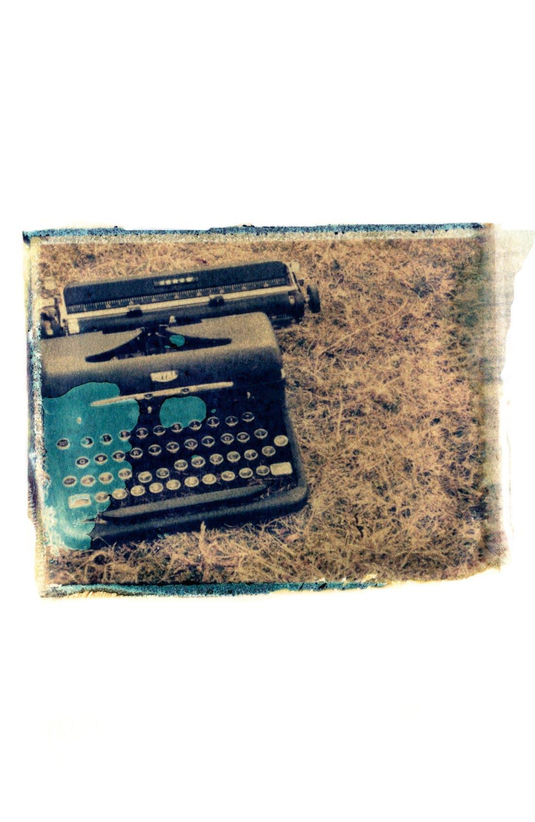 Alternate Image 1 Selected - She Hit Pause Studios 'Typewriter in Field' Wall Art