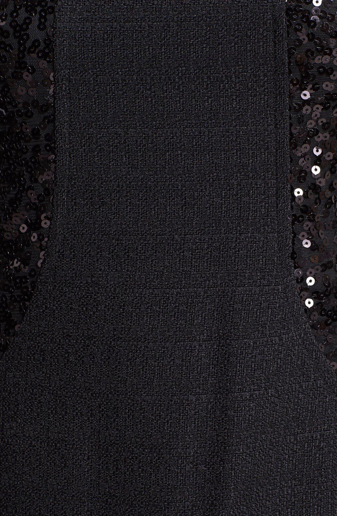 Alternate Image 3  - Ellen Tracy Sequin Trim Sheath Dress