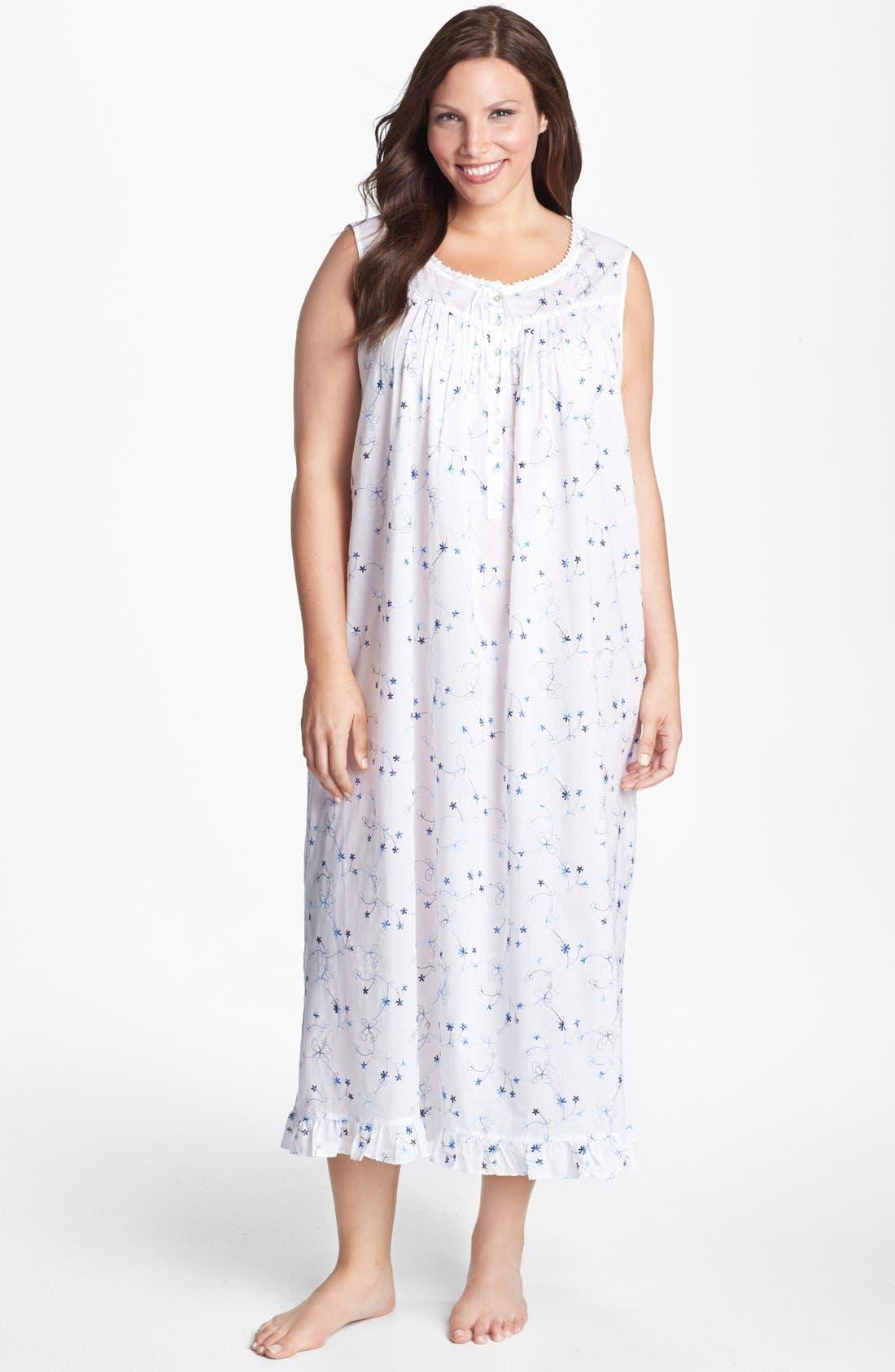 Main Image - Eileen West 'Italian Romance' Nightgown (Plus Size)