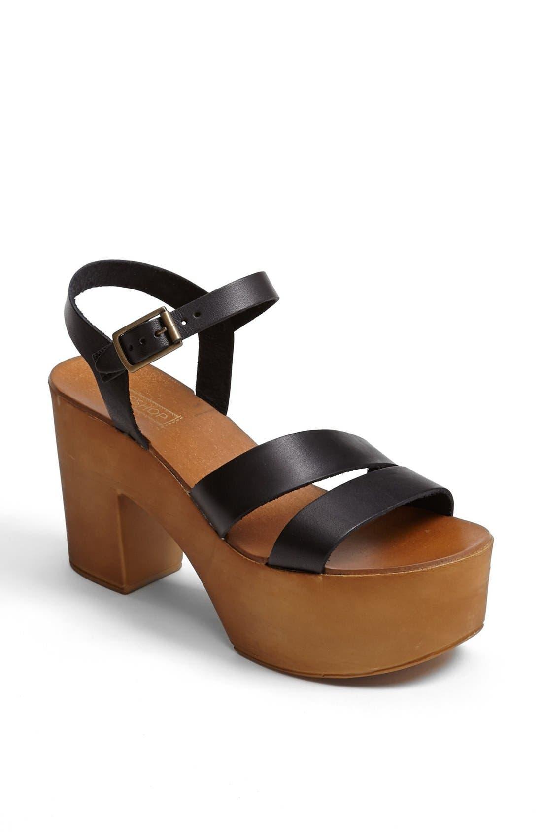 Alternate Image 1 Selected - Topshop 'Nelson' Platform Sandal