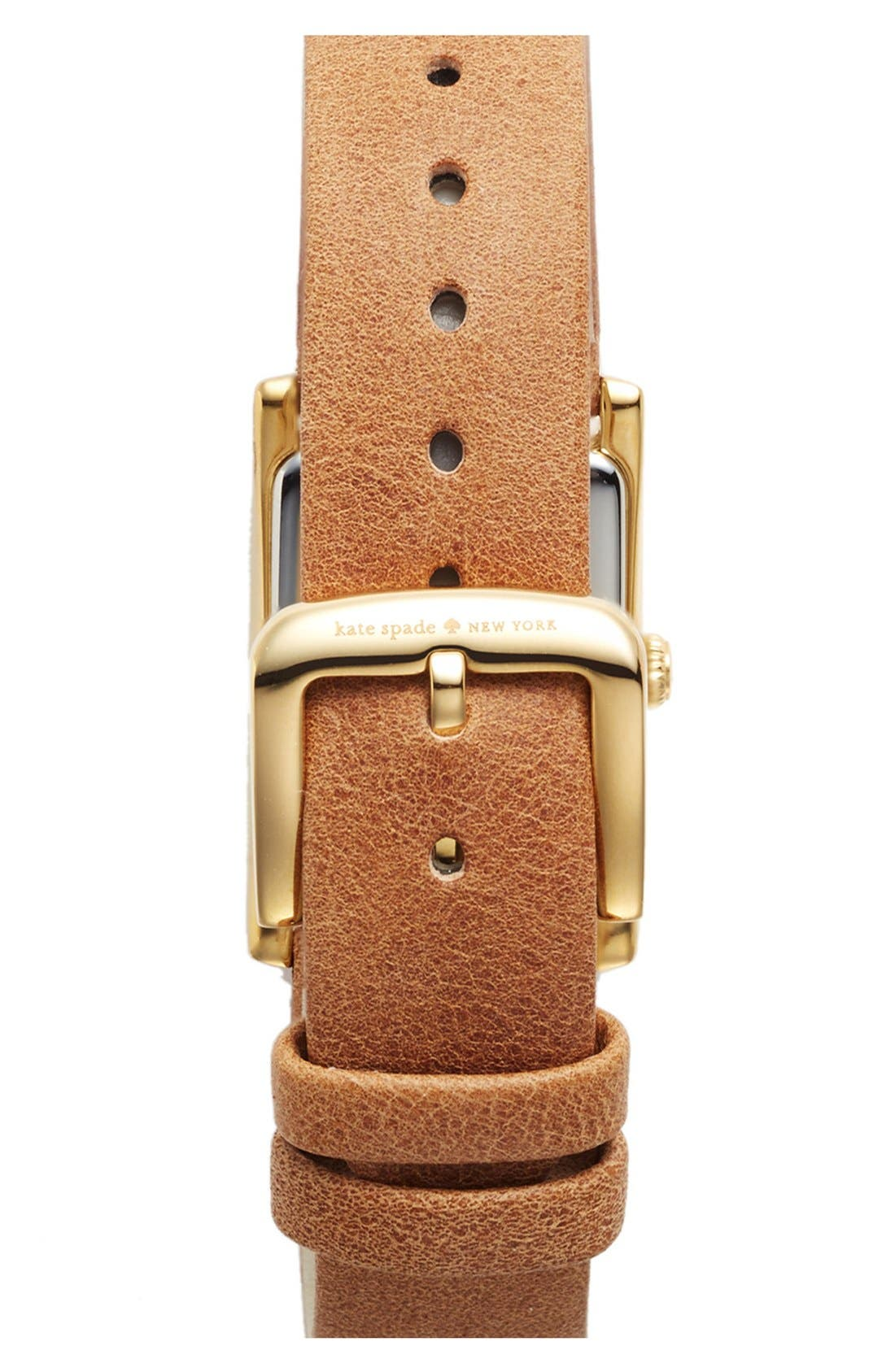 Alternate Image 2  - kate spade new york 'cooper' studded leather strap watch, 21mm x 32mm