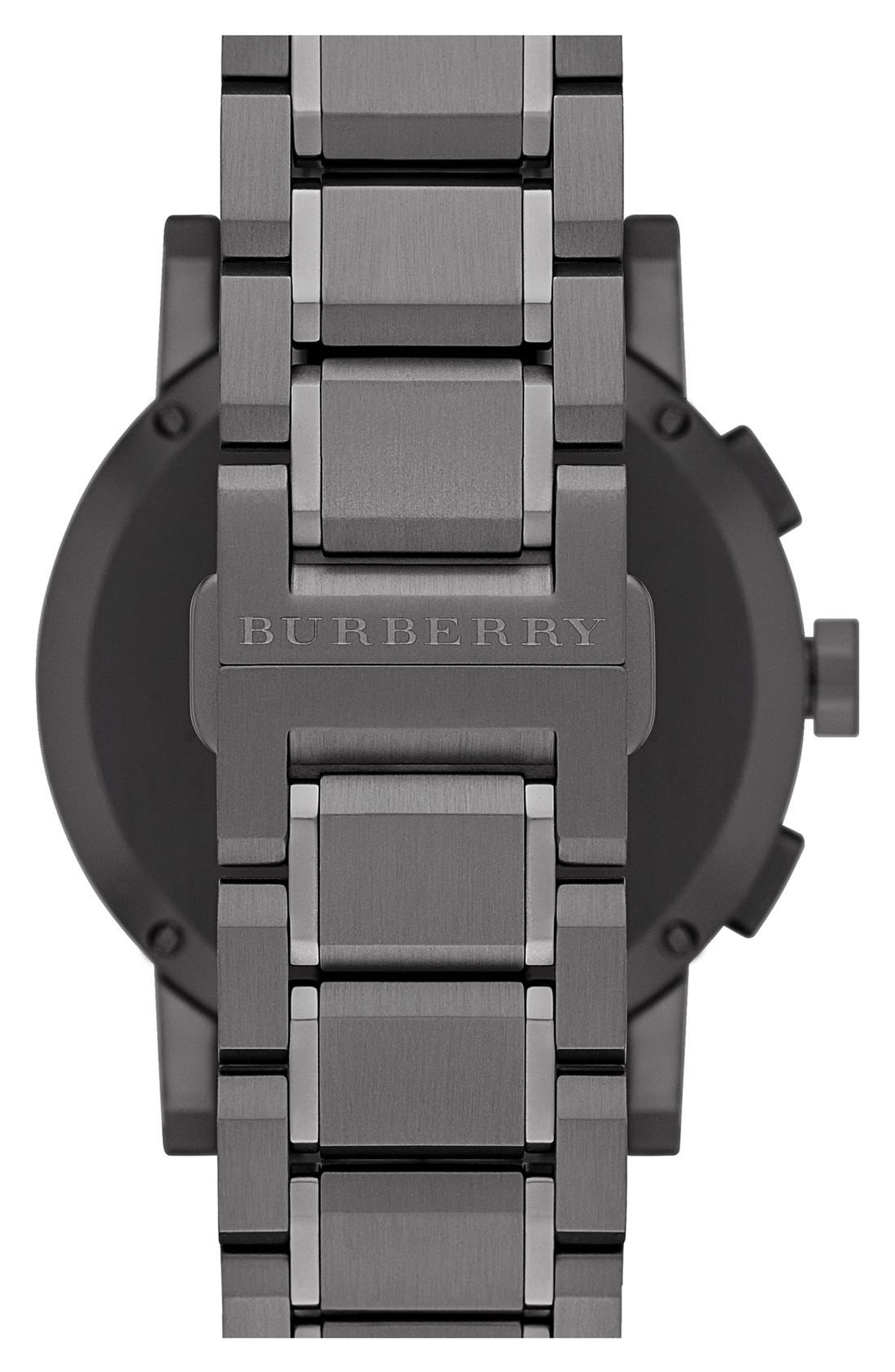 Alternate Image 2  - Burberry Large Chronograph Bracelet Watch, 42mm