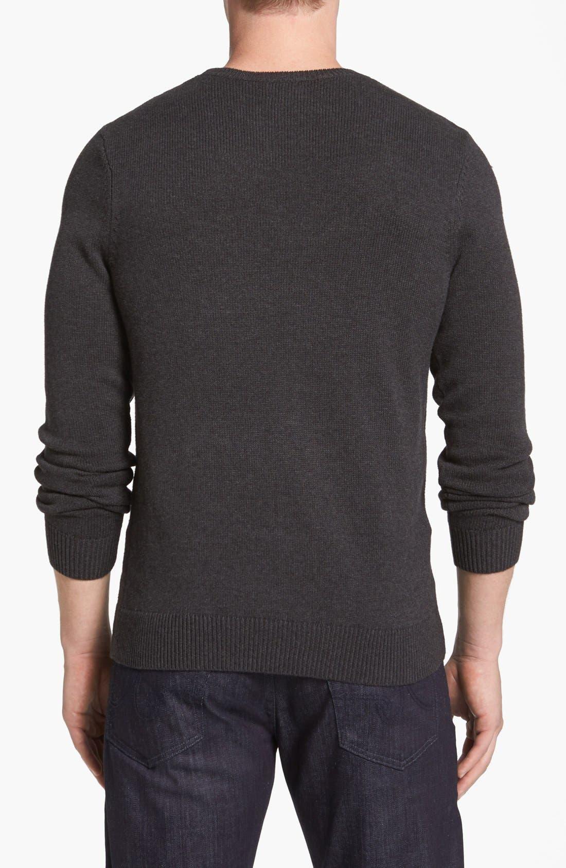 Alternate Image 2  - 1901 Graphic Crewneck Sweater