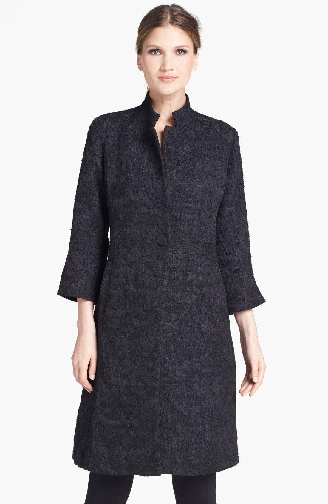 Alternate Image 1  - Eileen Fisher Threaded Satin Jacquard Jacket
