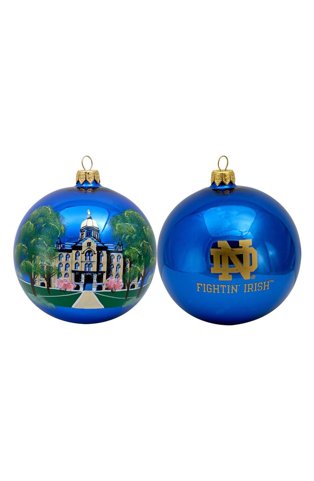 Main Image - Joy to the World Collectibles 'Collegiate Globe - Notre Dame' Ornament