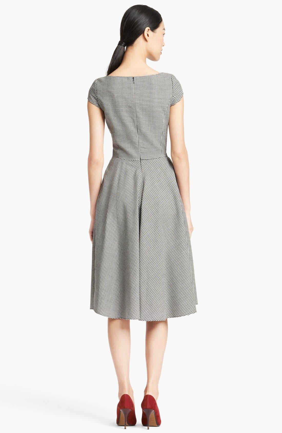 Alternate Image 2  - Oscar de la Renta Full Skirt Gingham Dress