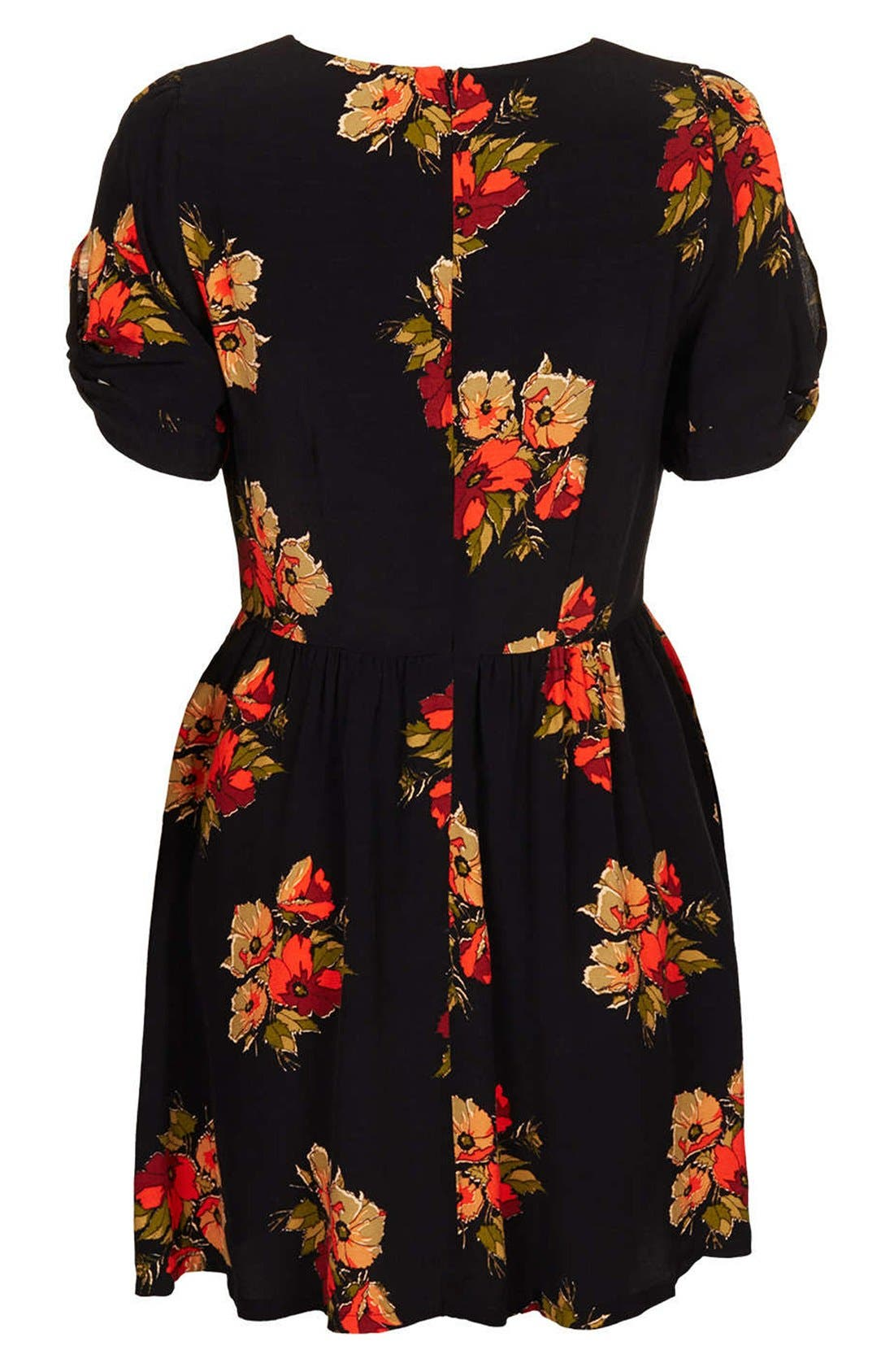 Alternate Image 2  - Topshop 'Autumn Floral' Tea Dress (Petite)