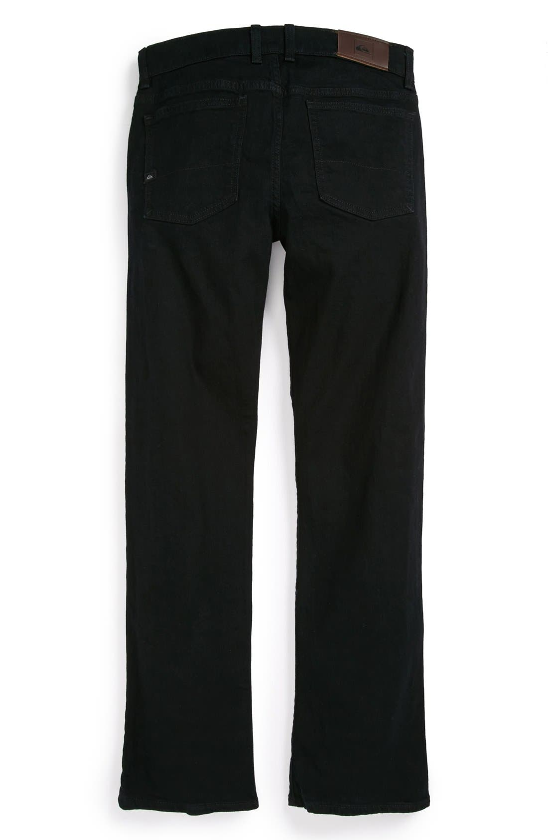 Alternate Image 1 Selected - Quiksilver 'Distortion' Slim Straight Leg Jeans (Big Boys)