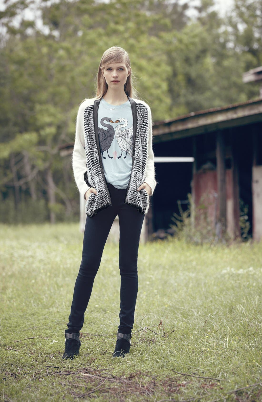 Alternate Image 4  - Wildfox 'Kissing Swans' Crewneck Tee