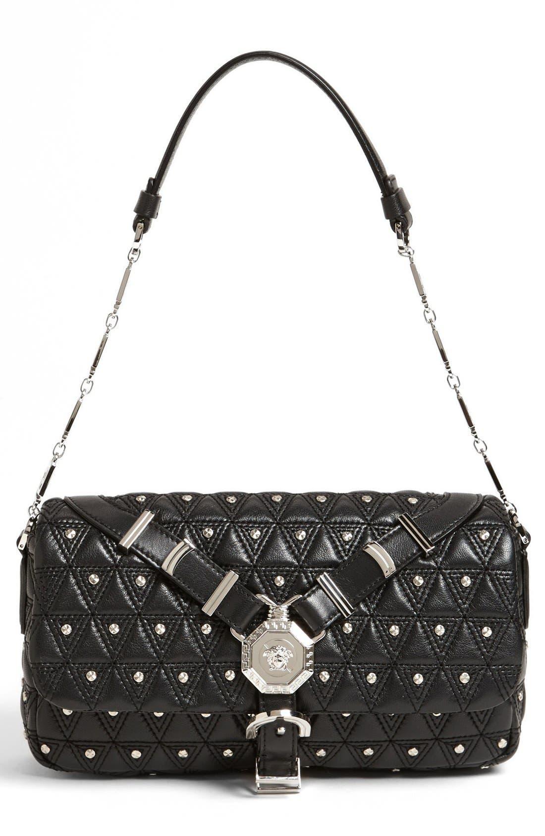 Alternate Image 1 Selected - Versace 'Vanitas' Leather Flap Shoulder Bag
