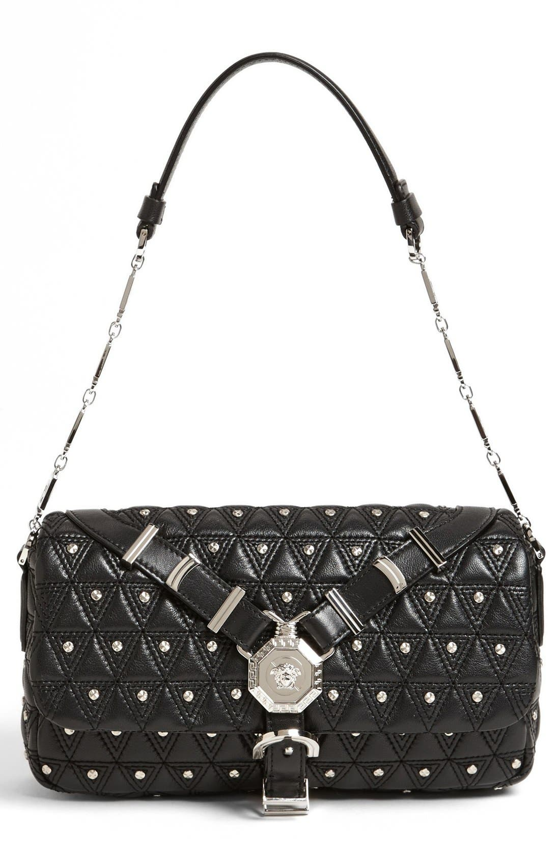Main Image - Versace 'Vanitas' Leather Flap Shoulder Bag
