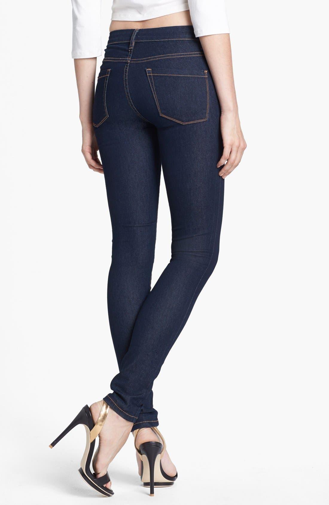 Alternate Image 2  - BLANKNYC High Rise Skinny Jeans