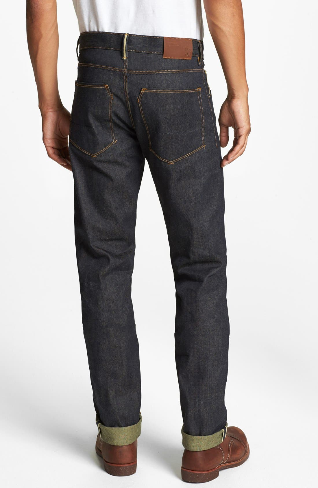 Alternate Image 1 Selected - Raleigh Denim 'Jones' Slim Fit Raw Selvedge Jeans (Original Selvage)