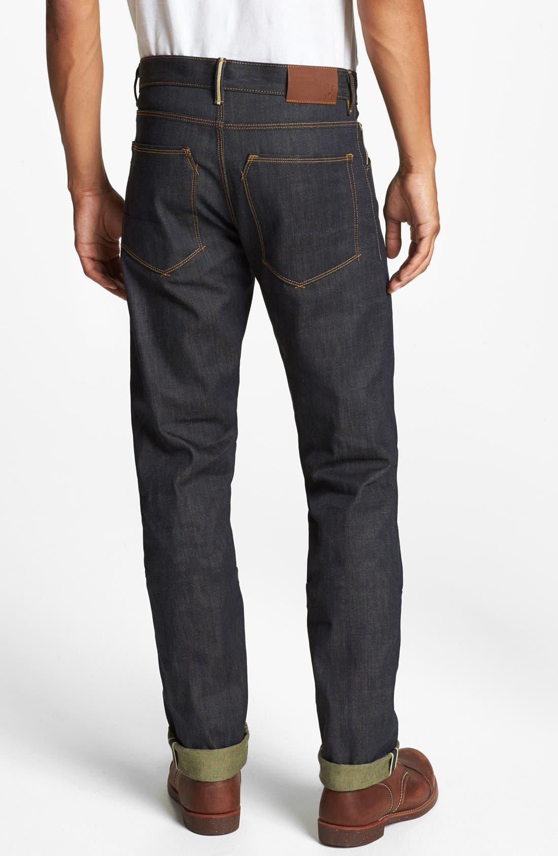 Main Image - Raleigh Denim 'Jones' Slim Fit Raw Selvedge Jeans (Original Selvage)
