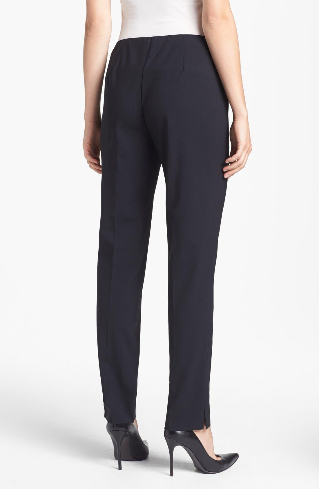 Alternate Image 2  - Lafayette 148 New York Side Zip Stretch Wool Pants