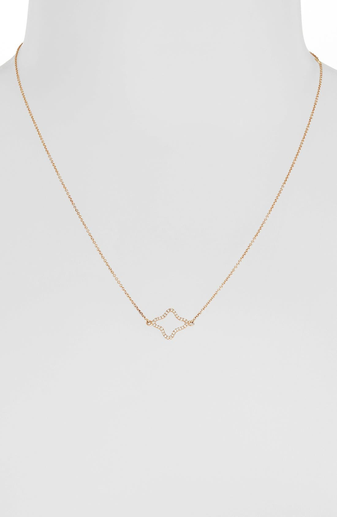 Alternate Image 2  - Bony Levy Pavé Diamond Quatrefoil Pendant Necklace (Nordstrom Exclusive)
