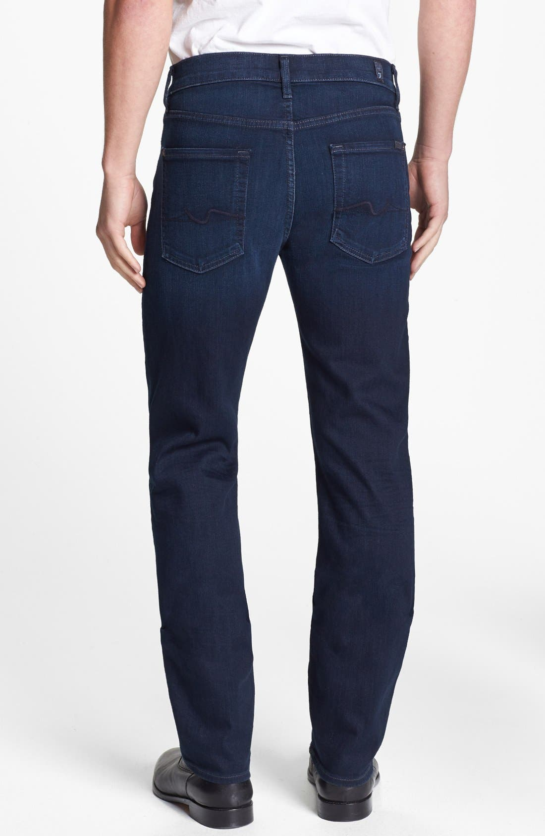 Alternate Image 2  - 7 For All Mankind® 'Slimmy - Luxe Performance' Slim Fit Jeans (Blue Ice)