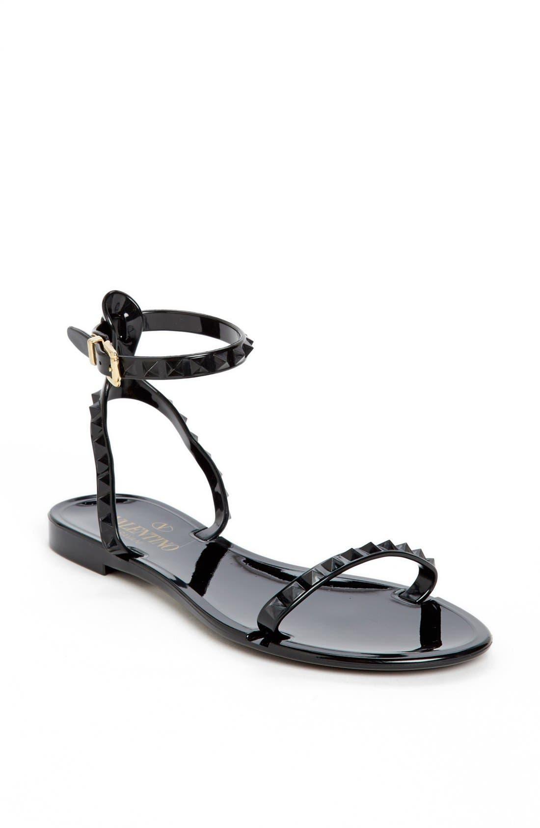 Alternate Image 1 Selected - Valentino 'Rockstud' Ankle Strap Sandal