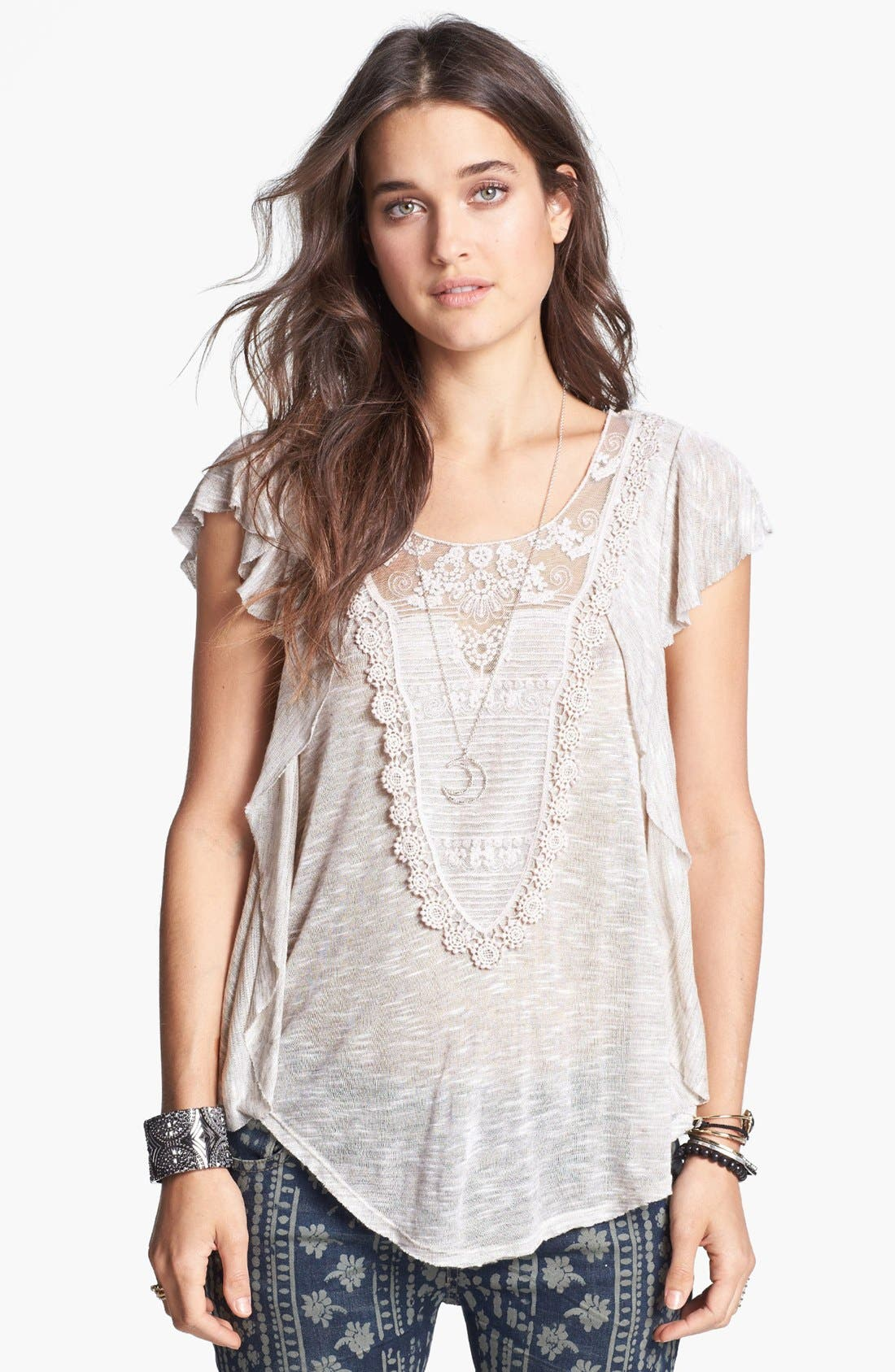 Alternate Image 1 Selected - Free People 'Lil Luella' Ruffle Top