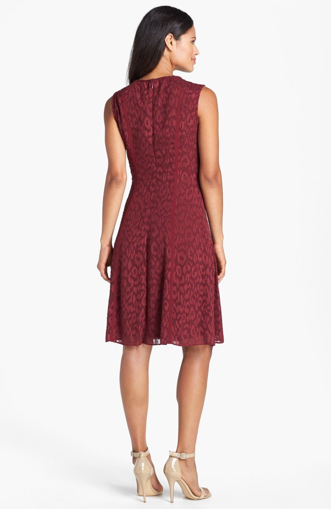Alternate Image 2  - Adrianna Papell Burnout Fit & Flare Dress