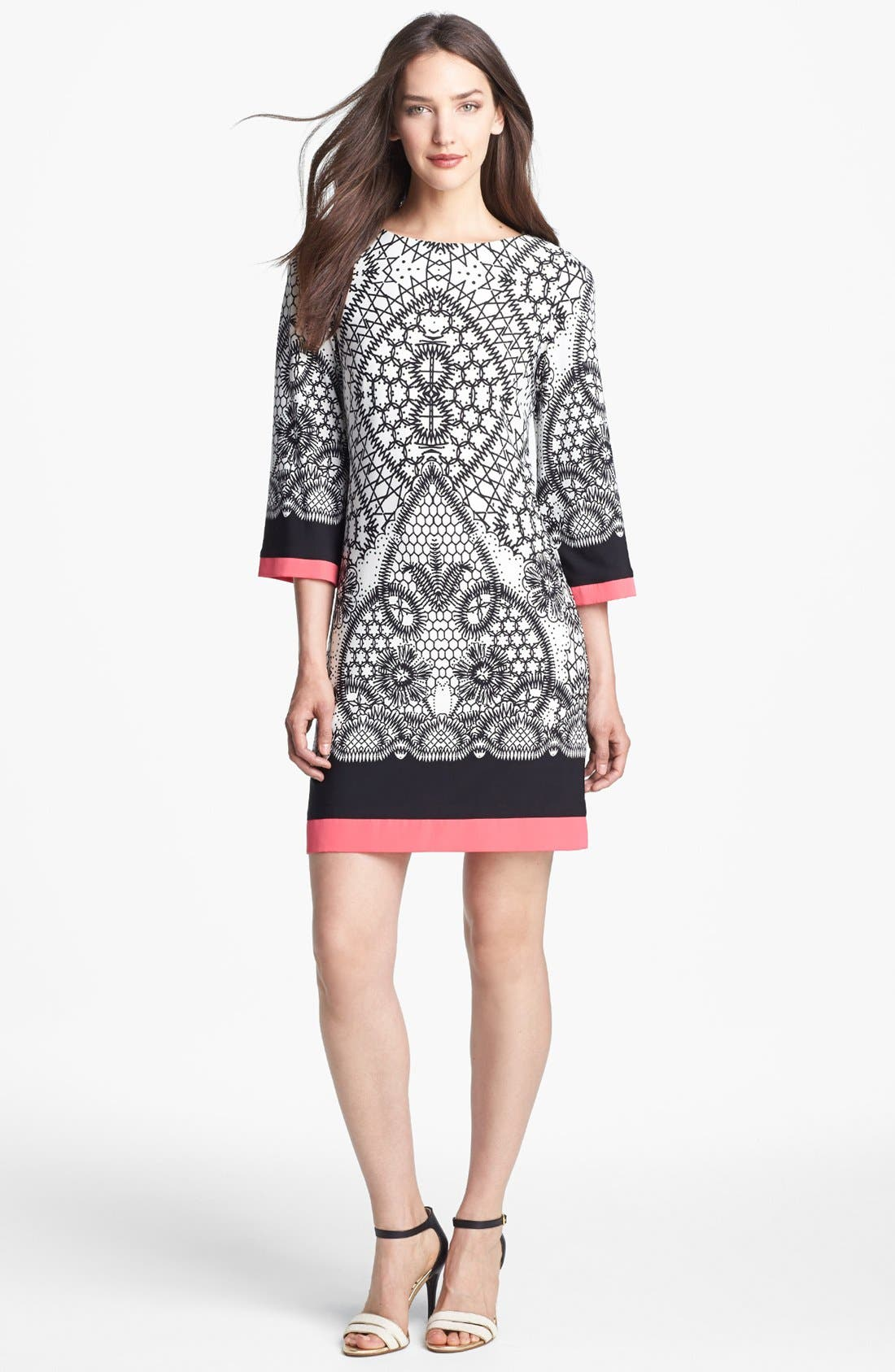 Main Image - Eliza J Print Jersey Shift Dress (Petite)