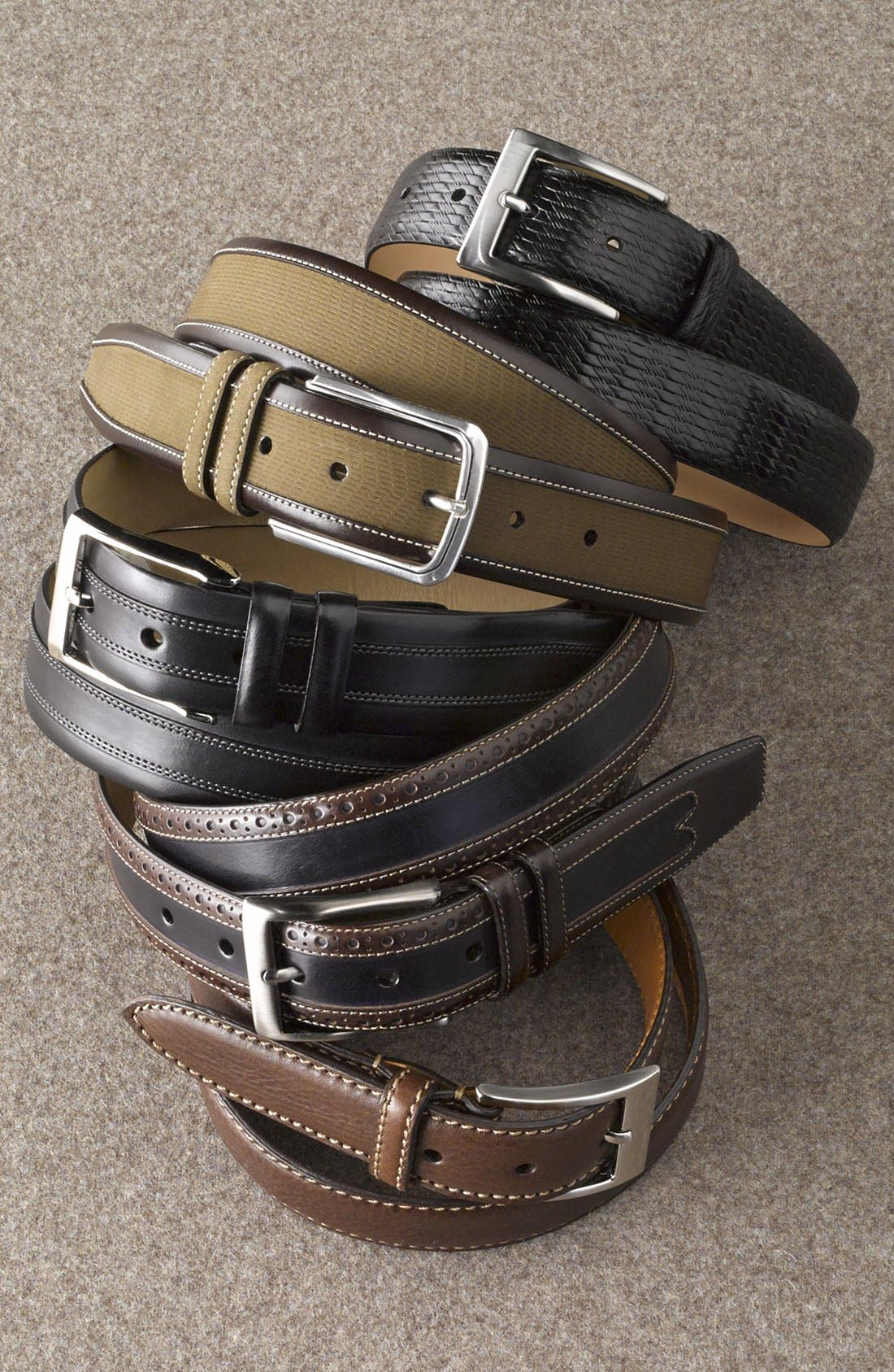 Alternate Image 2  - Trafalgar 'Eastham' Embossed Leather Belt